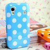 Samsung Galaxy Ace Polka Dots hoesje cover case - blauw