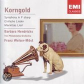 Franz Welser-Most - Korngold Symphony In F Sharp/