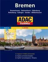 ADAC StadtAtlas Bremen mit Bremerhaven, Delmenhorst, Helgoland, Oldenburg, Roten