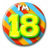 Paperdreams Button Klein - I'm 18