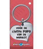 RVS Hart Sleutelhanger - Voor de liefste papa - Vaderdag