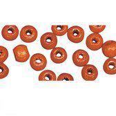 115 stuks oranje kralen 6 mm