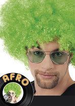 Pruik Afro groen