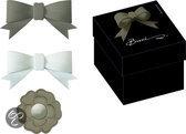 Baci Milano Candies Strik of Lint Los - Accessoires - Geschenkbox - Set van  stuks -Taupe