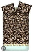 Little Diva Jewel Leopard Dekbedovertrek - Mint - Lits-jumeaux - 240x200