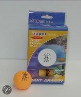 Tafeltennisballen super 3ster oranje 6st