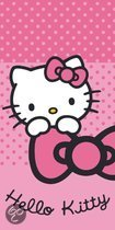 Badlaken Hello Kitty roze dots: 70x140 cm
