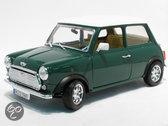 Bburago Mini Cooper 1996 groen 1:24