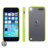 Apple iPod Touch 5 Hoesje Bumper case met achterkant Groen Green