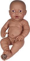 Bayer Pop Newborn Baby Donker - Jongen - 42 cm