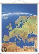 Europa Panorama. Wandkarte mit Metallstäben