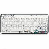 Logitech K360 draadloos Azerty toetsenbord - Belgische layout - Wit