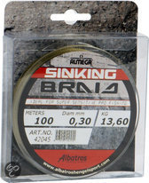 Albatros Sinking Braid Vislijn - 0.30 mm - 13.6 kg - 100 M