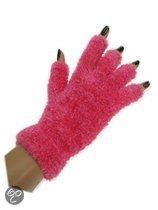 Vingerloze handschoenen fluffy roze