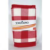 Jorzolino Set uni-ruit Set Keuken- & Theedoek rood