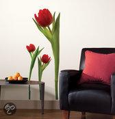 RoomMates Muursticker Tulips - Rood