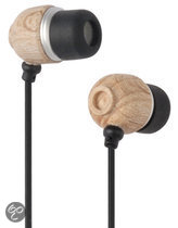G-Cube Eco-Friendly Organic In-Ear Hoofdtelefoon - Zwart