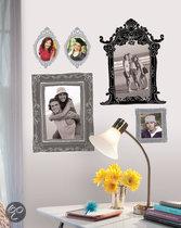 RoomMates Muursticker Metallic Black & Silver Frames - Zwart