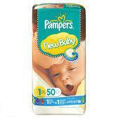 Pampers New Baby - Luiers Maat 1 met urine indicator Midpak 50 stuks