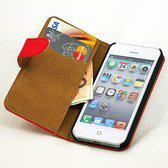 Movizy premium wallet case iPhone 5(S) - rood