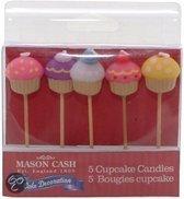 Mason Cash Kaarsjes - Cupcake - 5 stuks