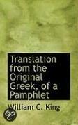 Translation from the Original Greek, of a Pamphlet