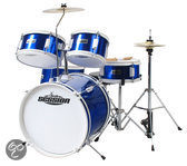 Xdrum Session Junior Drumset, blauw, incl. oefen DVD