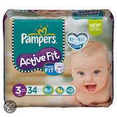 Pampers Active Fit - Luiers Maat 3 Midpak 34 stuks