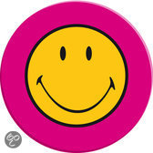 Zak! Designs Smiley Saladebord - Ø 20 cm - Set van 6 stuks - Roze