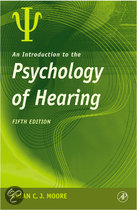 An Introduction to the Psychology of Hearing