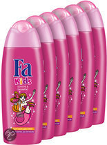 Fa Kids Douche & Shampoo Mermaid - 6x 250 ml - Voordeelverpakking - Douchegel & Shampoo