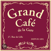 KOM Amsterdam Grand Café de la Gare Servetten - 33 x 33 cm - Rood