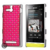 Diamond hard case Hoesje Sony Xperia U roze