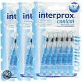 Interprox Interdentaal Conisch - Ragers - 3 x 6 stuks - Voordeelverpakking