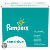 Pampers Sensitive - Billendoekjes Navulpak 15x56 st.
