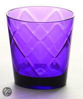 Baci Milano So Chic Waterglas  - Paars - Set van 6 stuks