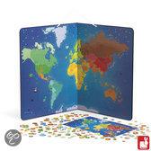 Janod Wereldkaart Dieren Magnetisch - 201 Magneten