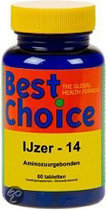 Best Choice IJzer 14 mg - 60 Tabletten - Mineralen