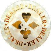 Dealer button deluxe 6cm.