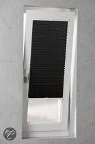 Plissé Met Zijgeleiding - 50x130 - Zwart met Kreukelstructuur