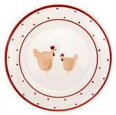 DMD Happy Hens Dessertbord - Ø 19 cm - Rood