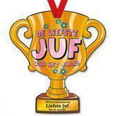 Trofee met lint - Trophy - Juf