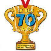 Trofee met lint - Trophy - 70 jaar