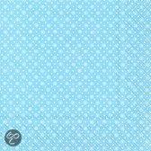 IHR Dotty Servetten - 16.5 x 16.5 cm - Licht Blauw