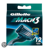 Gillette Mach 3 - 12 stuks - Scheermesjes