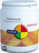Plantina Vitamine D 600 IE - 420 Tabletten - Vitaminen