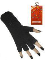 Vingerloze handschoen zwart