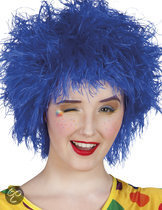 Pruik Frizzy - Blauw