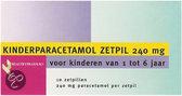 Healthypharm Paracetamol Kind 240 mg - 10 Zetpillen - Pijnstillers