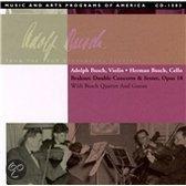 Brahms: Double Concerto, etc / Adolph & Herman Busch, et al